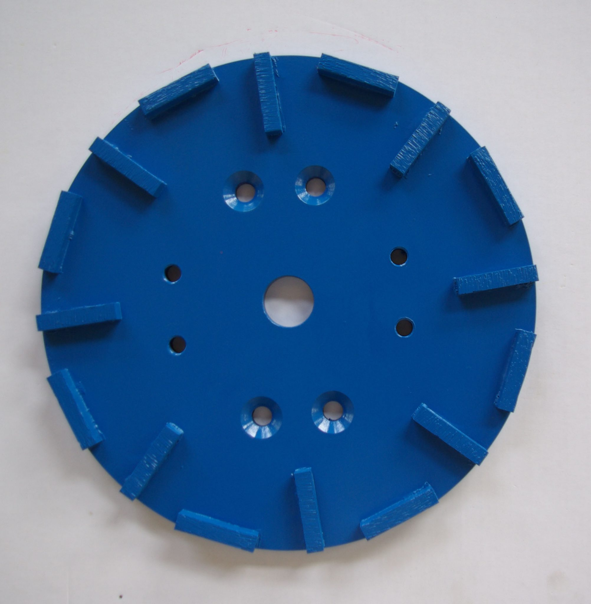 250mm grinding heads for concrete with 4nos M10 threads and 4 countersunk hole