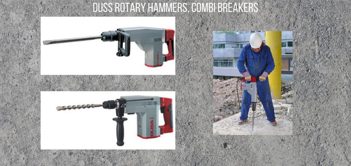 Duss rotary hammers, combi breakers (5)
